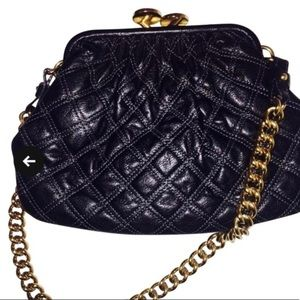 Marc Jacobs Quilted Purse Black Lambskin Leather